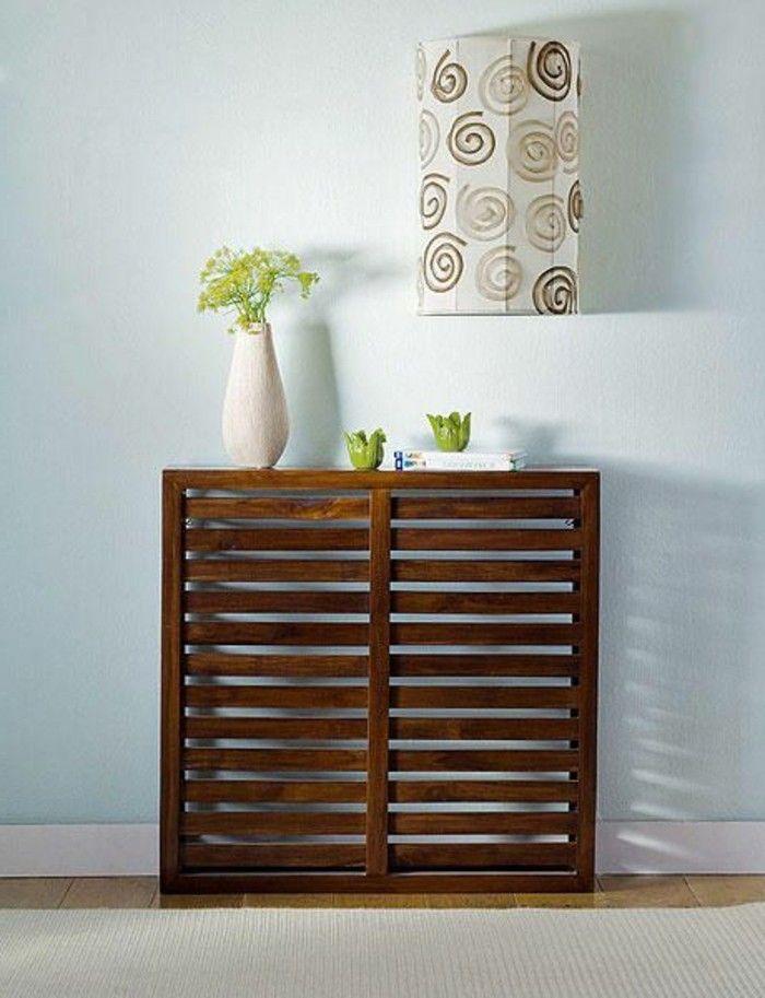 joli cache radiateur en bois foncé, comment trouver le meilleur design