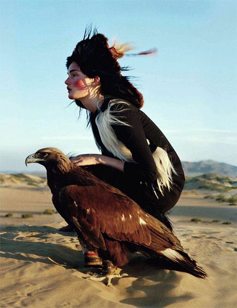 •••Kirsi Pyrhonen, photographed in Outer Mongolia, by Tim Walker for British Vogue, December 2011.