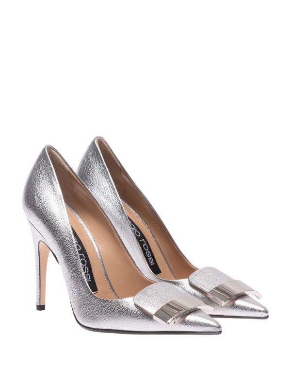 SERGIO ROSSI: court shoes online - Sr1 metallic leather