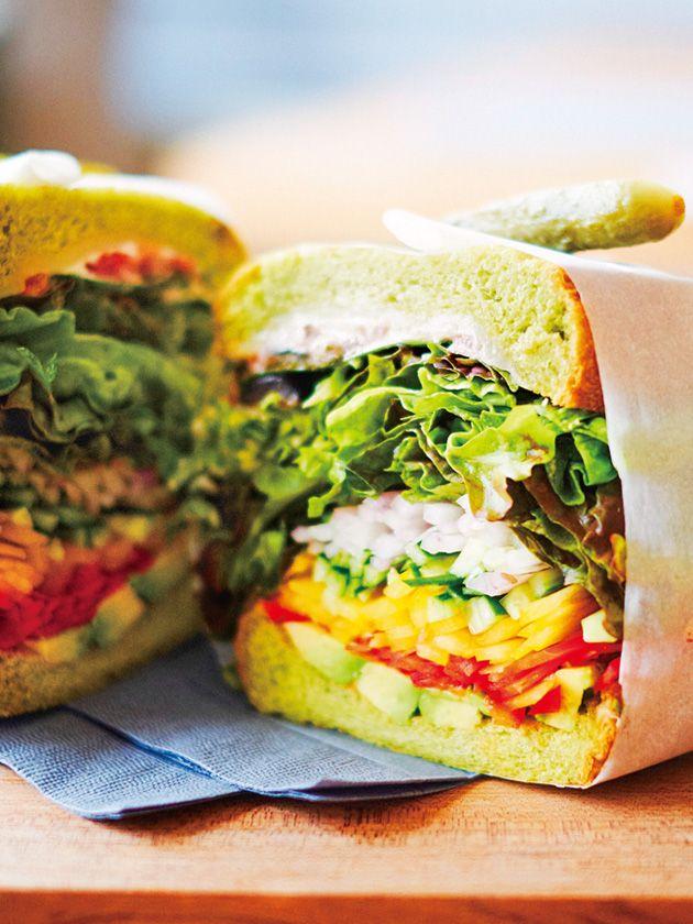 Tokyo Sandwiches : 【&ima/アンド イマ】サンドイッチのために作った グリーンなブレッドに注目!//Manbo