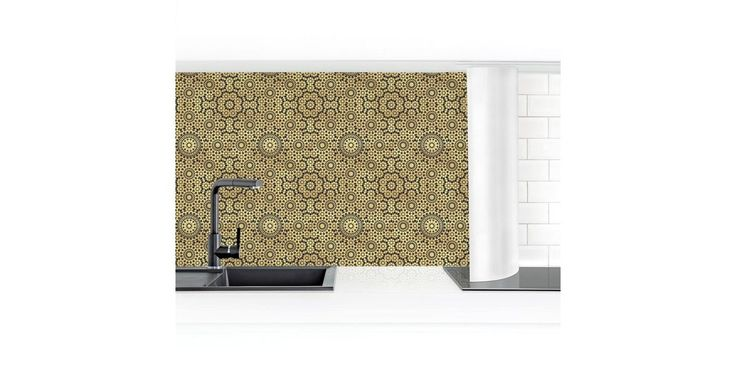 Küchenrückwand »Orientalisches Muster mit goldenen Sternen«