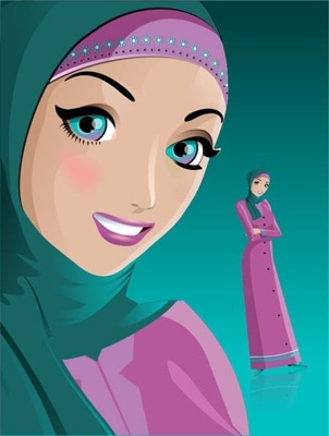 Kartun Hijab Modern