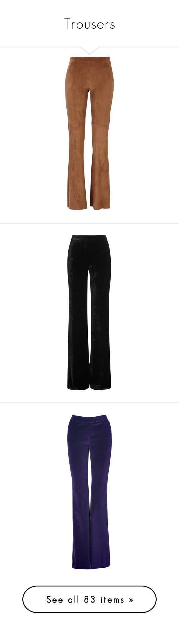 """""""Trousers"""" by darling-muse ❤ liked on Polyvore featuring pants, bottoms, trousers, calça, jeans, black, wide leg trousers, wide leg pants, zip pants and emilio pucci pants"""