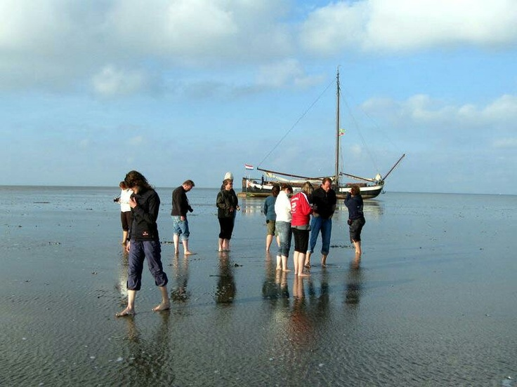 Wadlopen - walk from the mainland to the wadden islands (Holland) during low tide