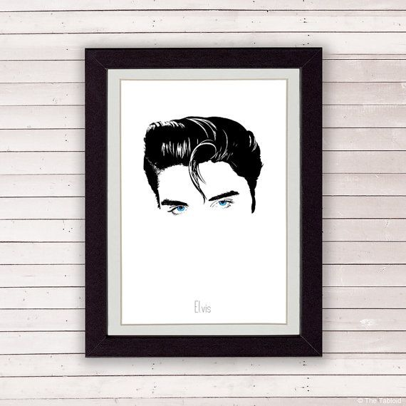 Elvis Presley poster music poster home decor elvis by TheTabloid