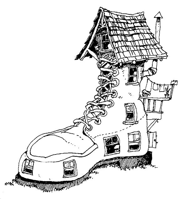 House Coloring Pages Buildings 020 601x635