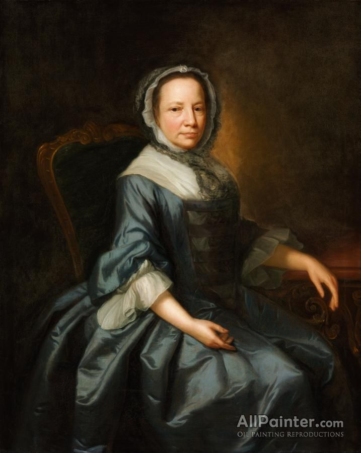 Thomas Hudson,Portrait Of A Lady I oil painting reproductions for sale