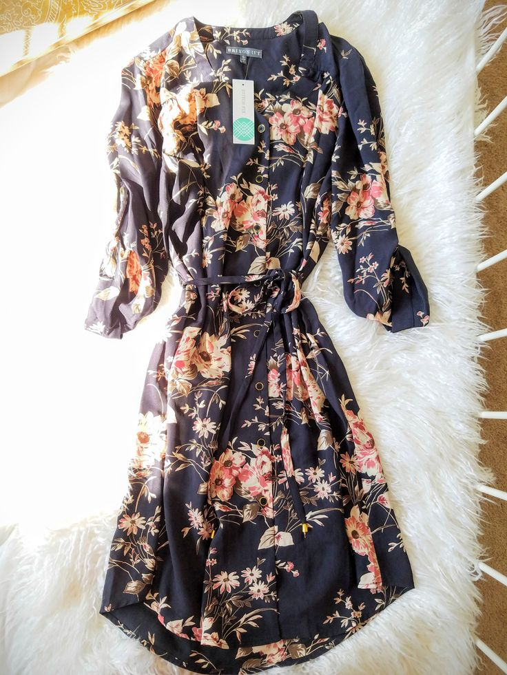 Cristen Shirt Dress...would like to try this. Like the print.