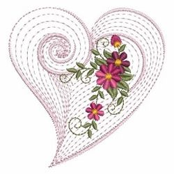 Rippled Floral Heart 2, 10 - 3 Sizes!   Floral - Flowers   Machine Embroidery Designs   SWAKembroidery.com Ace Points Embroidery