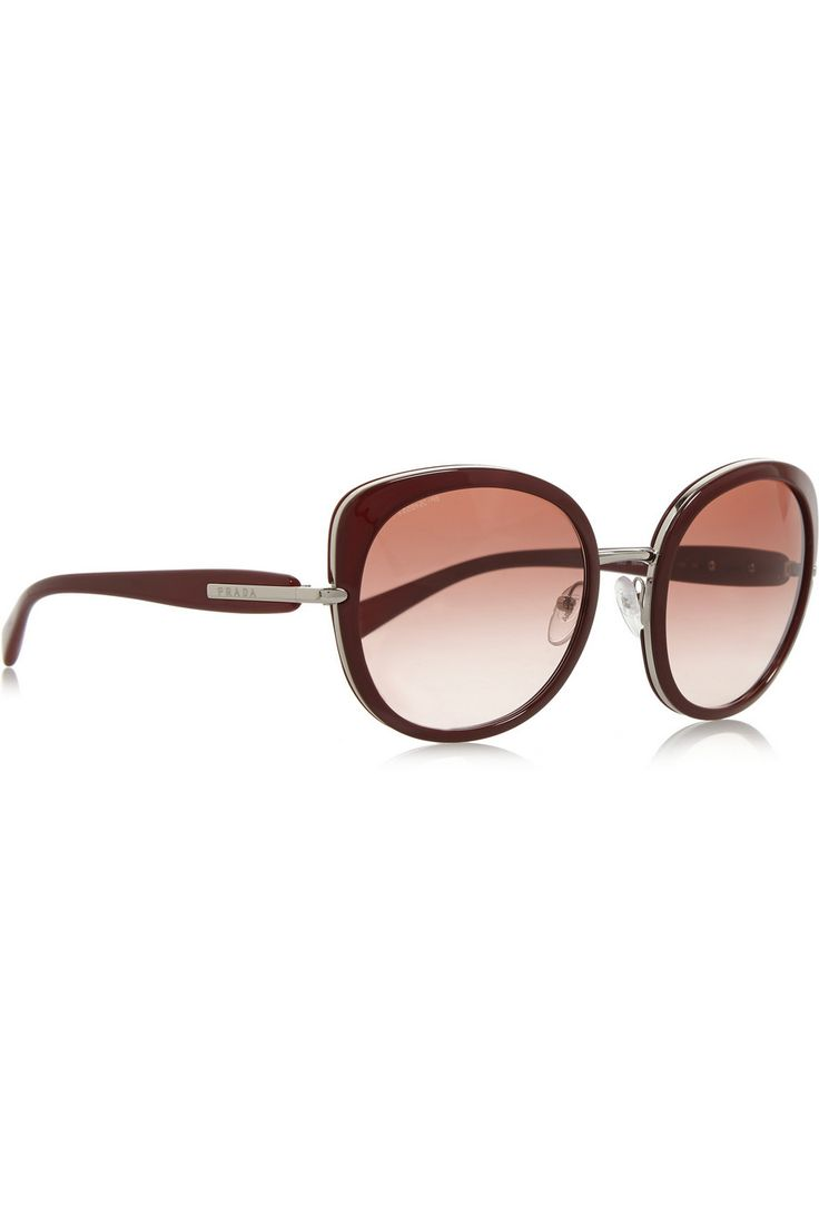 £138 - PRADA Round-frame acetate sunglasses