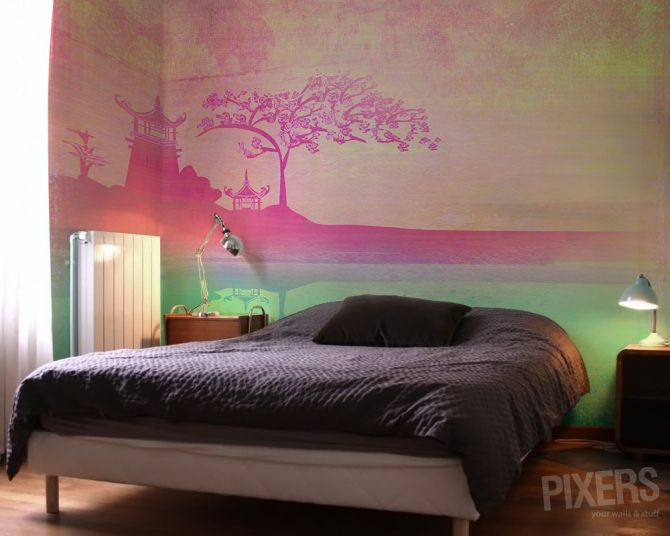 Oriental Rose - inspiration wallmurals, interiors gallery• PIXERSIZE.com