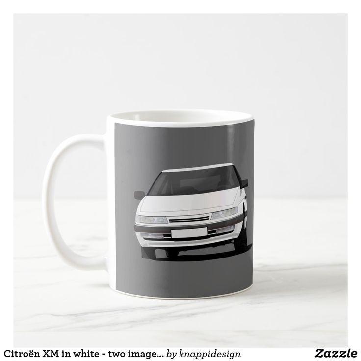 Citroën XM in white - two images per coffee mug.  #citroen #citroën #citroenxm #citroënxm #european #futureclassics #automobile #automobiles #car #auto #bilar #automobileillustration #carillustration #coffee mug #citroenmug