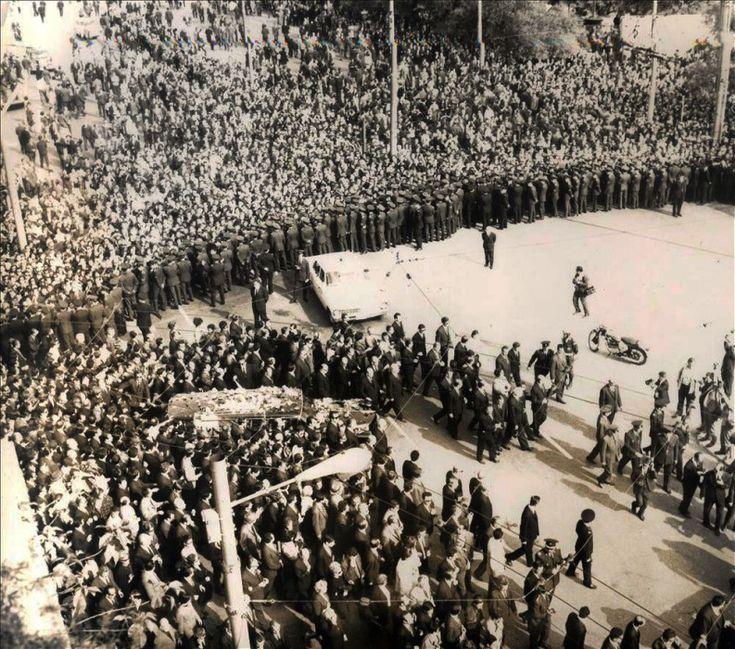 1968. Κηδεία του Γ. Παπανδρέου.
