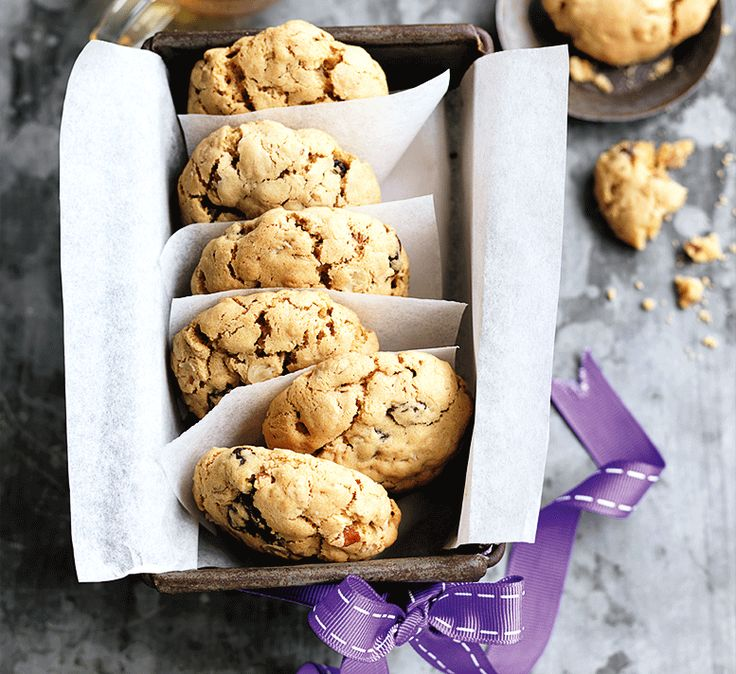 These easy oat, pecan and sultana biscuits are made with low-fat spread for a lighter, (almost) guilt-free teatime treat.