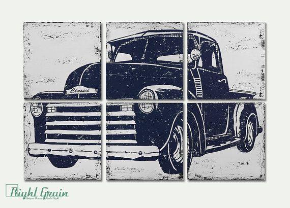Vintage Pickup Truck Art  Large 24x36 Vintage Decor  by RightGrain