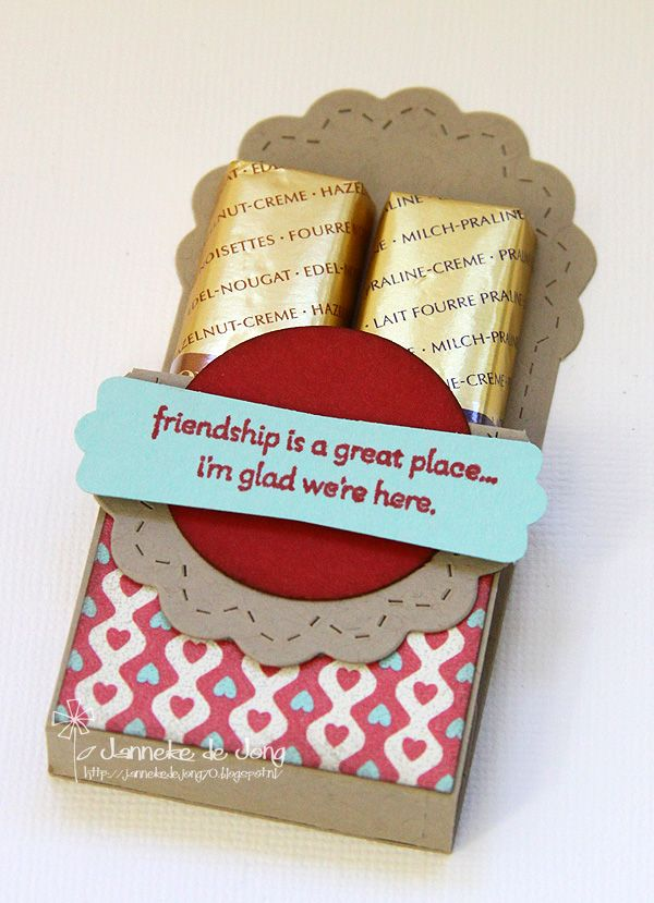 Janneke, Stampin' Up! Demonstrator : two tags die chocolate holder