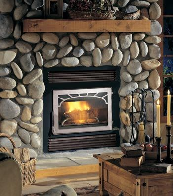 FireplacesWood Fireplaces, Stones Fireplaces, Wood Burning Fireplaces, Fireplaces Updates, Rivers Rocks, Nz26 Wood, Napoleon Prestige, Wood Stoves, Electric Fireplaces