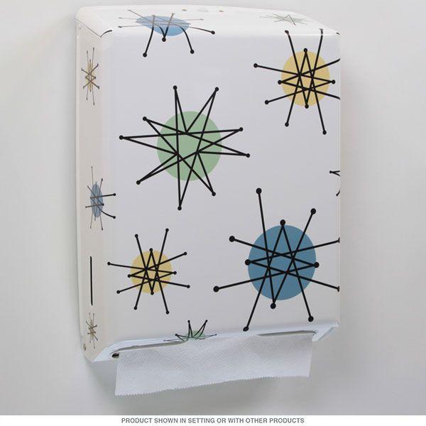 Franciscan Atomic Starbursts Paper Towel Holder | Kitchen Paper Towel Dispensers | RetroPlanet.com