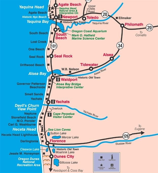 Highway 101 California Map.Map Northern California And Oregon Highway 101 Map Oregon Coast