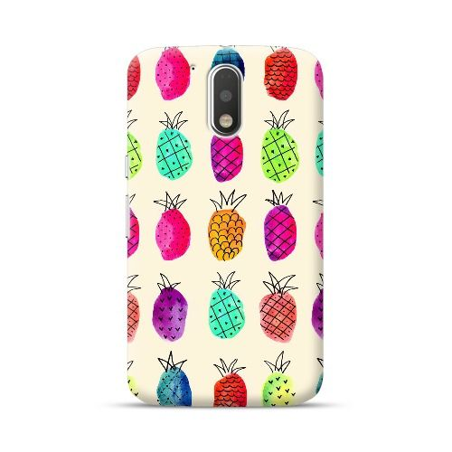 Moto G4 Plus/G4 Colorful Pineapples Case