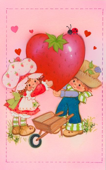 Happy Valentine's Day from Huck and Strawberry!