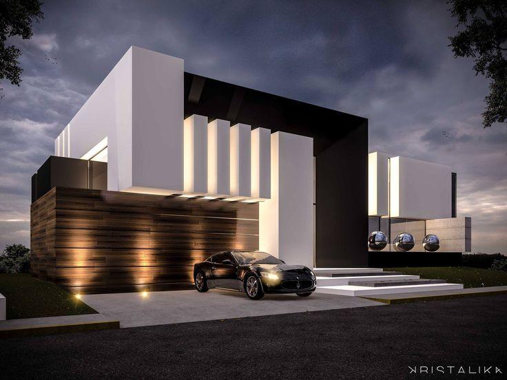 854 best modern houses images on pinterest for Exterieur villa moderne