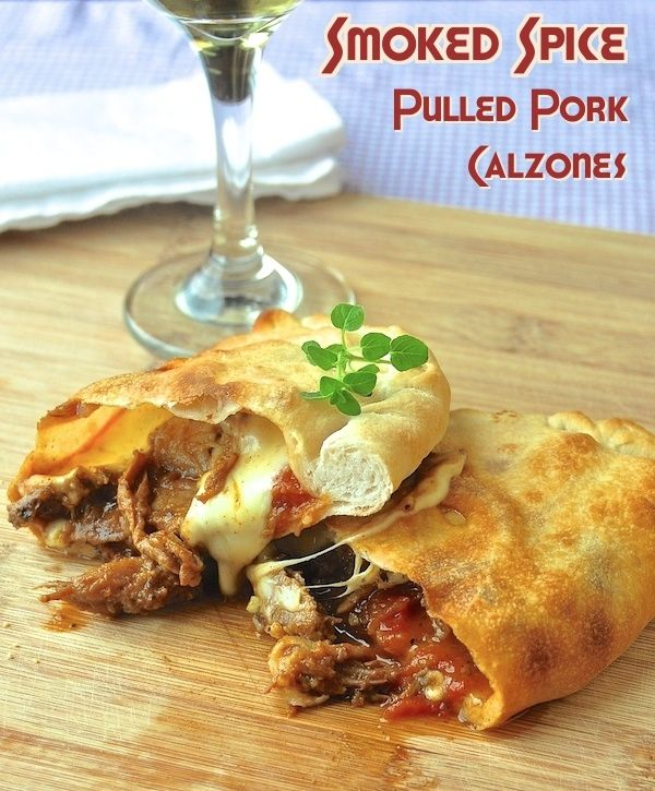 Smoked Spice Pulled Pork Calzones - Rock Recipes