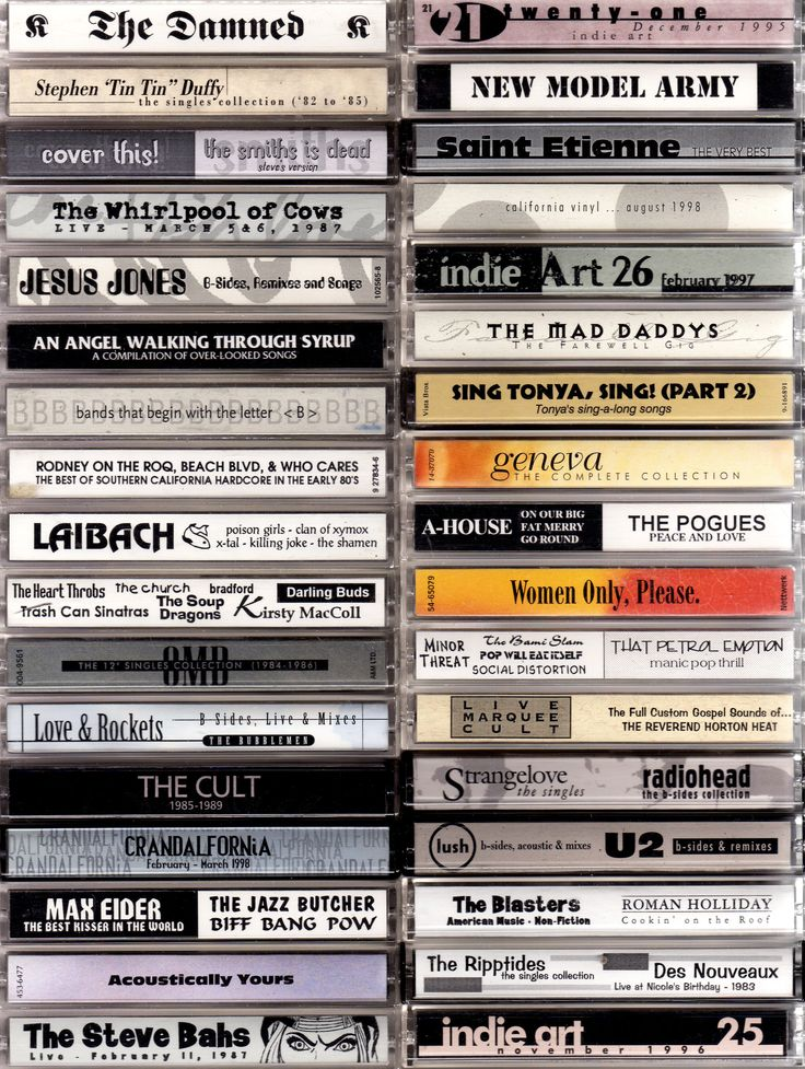 Cassette Art on Computer by Steve Vistaunet
