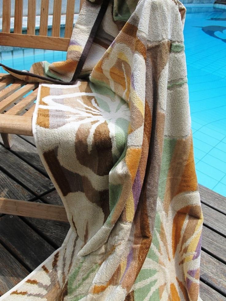 Butterfly Cream Beach Towel