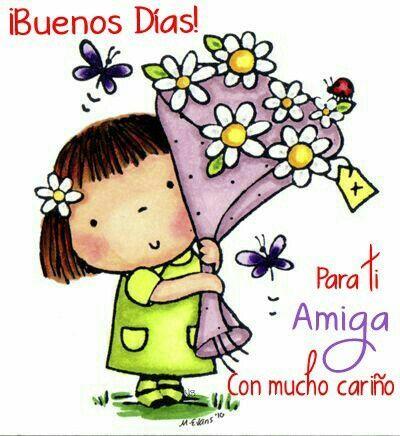 Buenos Días! Para ti Amiga con mucho cariño. http://enviarpostales.net/imagenes/buenos-dias-ti-amiga-mucho-carino/ Saludos de Buenos Días Mensaje Positivo Buenos Días Para Ti Buenos Dias