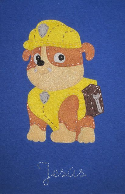 cocodrilova: camiseta patrulla canina, rubble #camiseta #bebe #patrullacanina