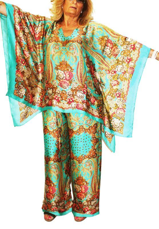 Blusón y pantalón de seda natural JULUNGGUL www.julunggul.com Silk dress and trousser