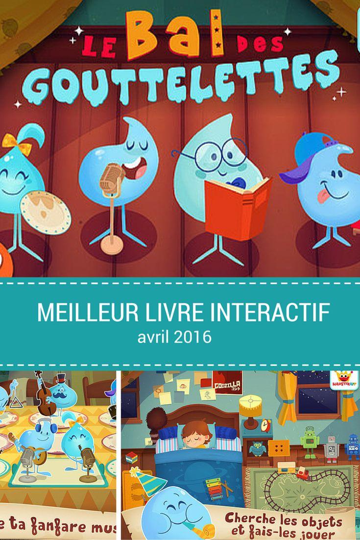 Le bal des goutelettes. Meilleur livre interactif. Avril 2016.