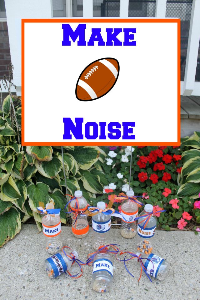 Be loud and proud and show your support for your team with these easy to make noisemakers.
