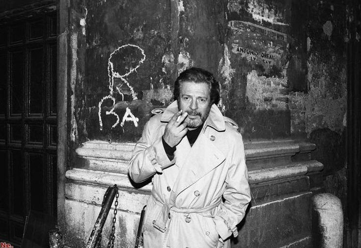 Гарри Бенсон. Марчелло Мастрояни, Рим, 1987