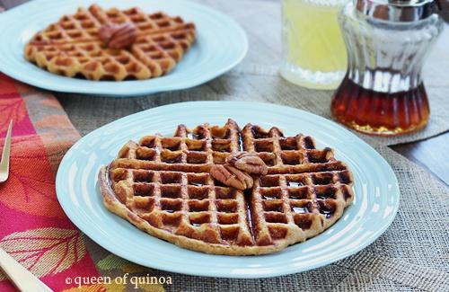 Yum! Sweet Potato Pineapple Quinoa Waffles | Gluten-Free
