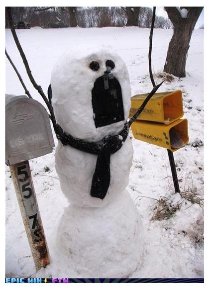 snowman mailbox!