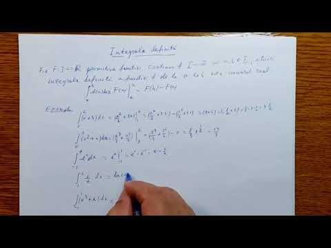 Integrala definita - Analiza Matematica - Clasa a XII-a  120501-01