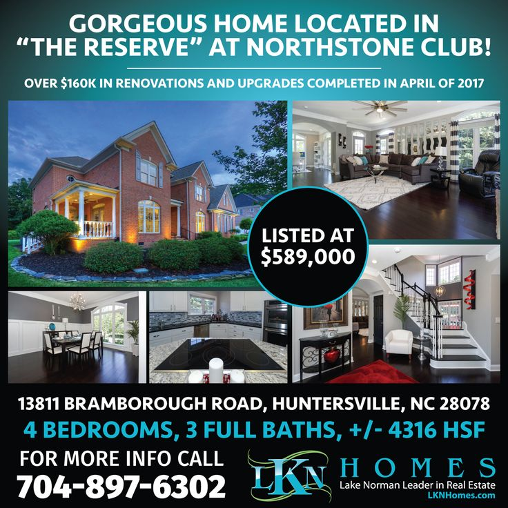 """GORGEOUS HOME LOCATED IN """"THE RESERVE"""" AT NORTHSTONE CLUB!    This 4 bedroom, full brick transitional home has all of the amenities of a one-of-a-kind home. Over $160k in Renovations and Upgrades completed in April of 2017. You and your friends will love cooking in this Gourmet Kitchen with Oversized Island and High-End Stainless Steel Appliances. Relax and enjoy down time in the 1100 sf Owners Suite with 2 Fireplaces and Grand Walk-In Shower! The large-at backyard with Oversized Deck and…"""