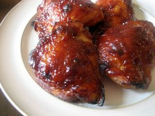 Oven Baked BBQ chicken thighs.  Pinners have said that this is the closest to fresh off the grill that you can get.  True backyard southern BBQ cooking that you can make in the freezing cold of Utah!