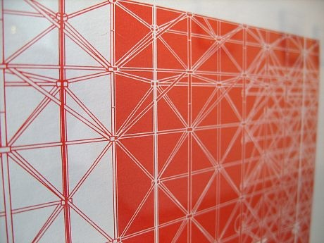 Konrad Wachsmann-'Untilted Study For Tensile Structure'-Color lithograph on paper