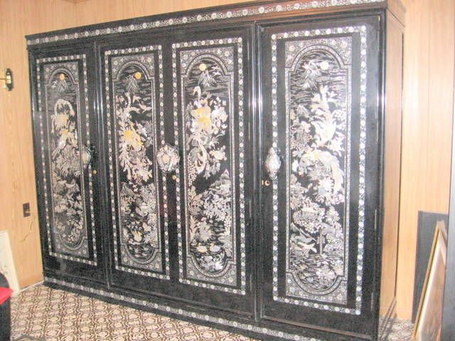 KOREAN FURNITURE | Beautiful mother of pearl Korean Armoire FOR SALE from Niagara Falls ...