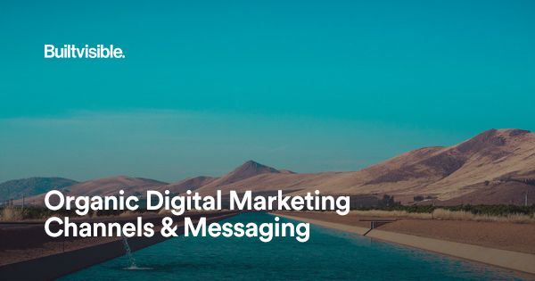 [Read at BuiltVisible] Organic Digital Marketing Channels and Messaging - At BuiltVisible Pete Watson-Wailes discusses Organic digital marketing channels and messaging. Read the full article at BuiltVisible. http://ift.tt/2y6Jloq