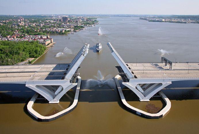Woodrow Wilson Bridge...Oxon Hill, Maryland to Alexandria, Virginia on the Potomac River