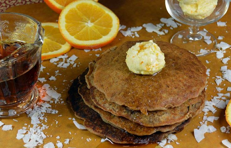 Gluten Free Pancakes with Orange Maple Butter- Pure and Simple
