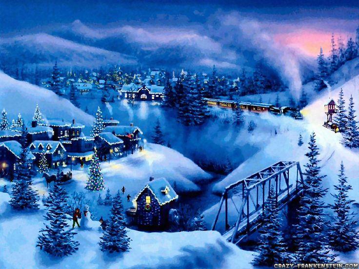 Christmas   Free 2010 christmas desktop wallpaper downloads blue christmas   Women ...