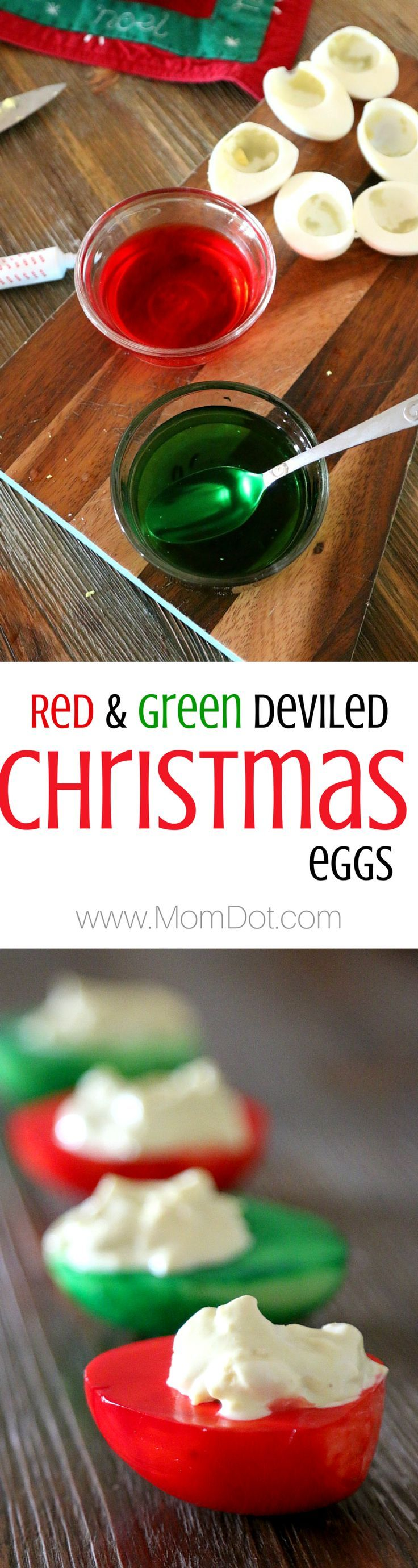 Christmas Deviled Eggs that WOW the holiday table