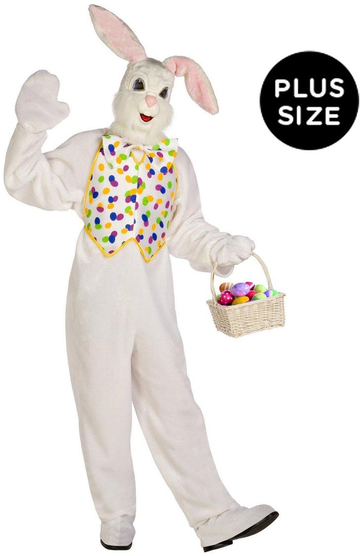 Fascinating Deluxe Easter Bunny Adult Plus Costume Endless Range Of Holiday Costumes For Day