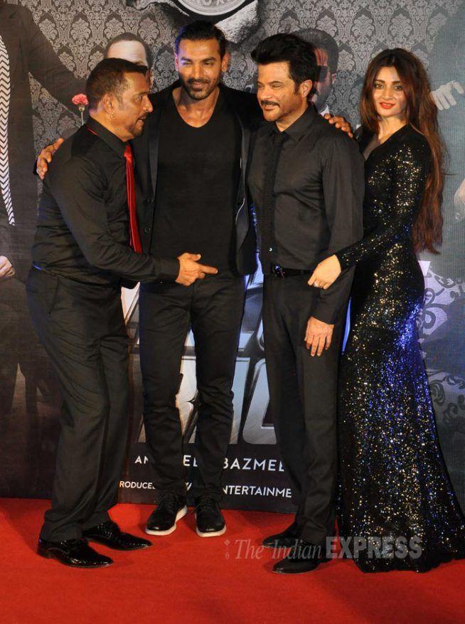 John Abraham, Anil Kapoor, Nana Patekar with Sakshi Magoo at 'Welcome Back' trailer launch. #Bollywood #WelcomeBack #Fashion #Style #Beauty #Handsome