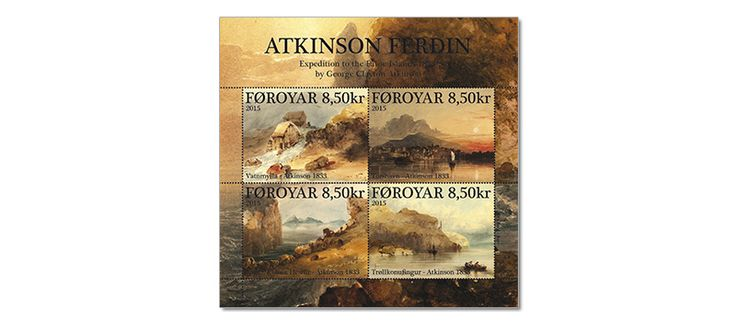 COLLECTORZPEDIA: Faroe Islands Stamps The Atkinson Expedtion in 1833